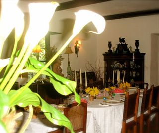 Easter table lilies