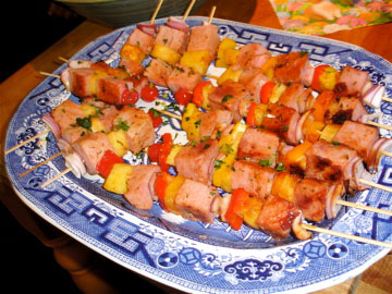 Easter brunch kabobs done