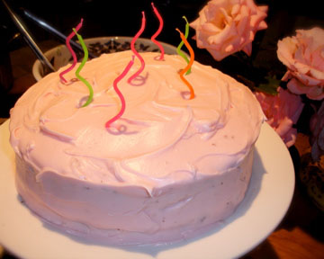 Pink party cake 1