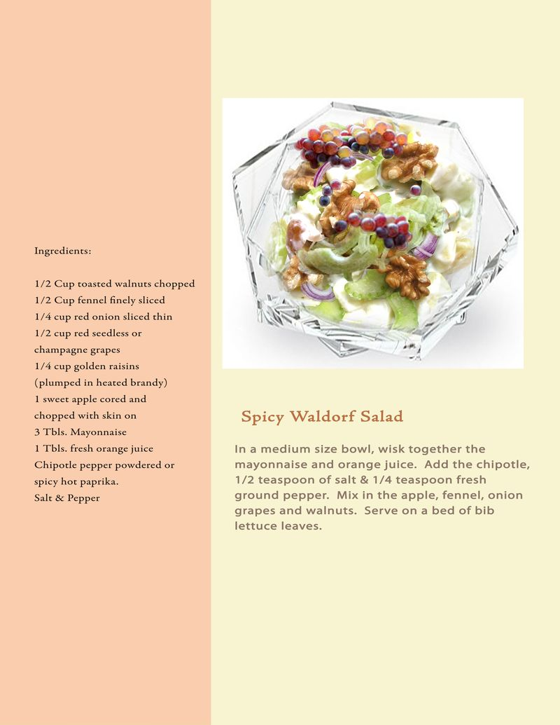 Proposal Book Recipe Spicy Waldorf Salad
