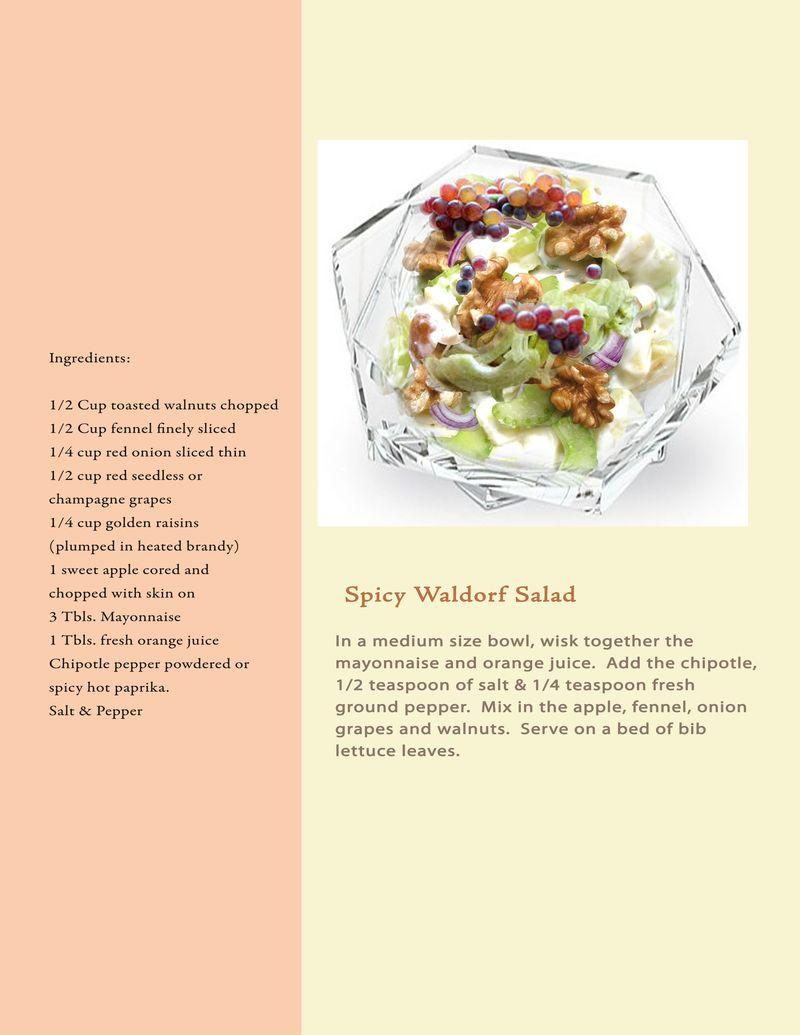 Proposal Book Recipe Spicy Waldorf Salad