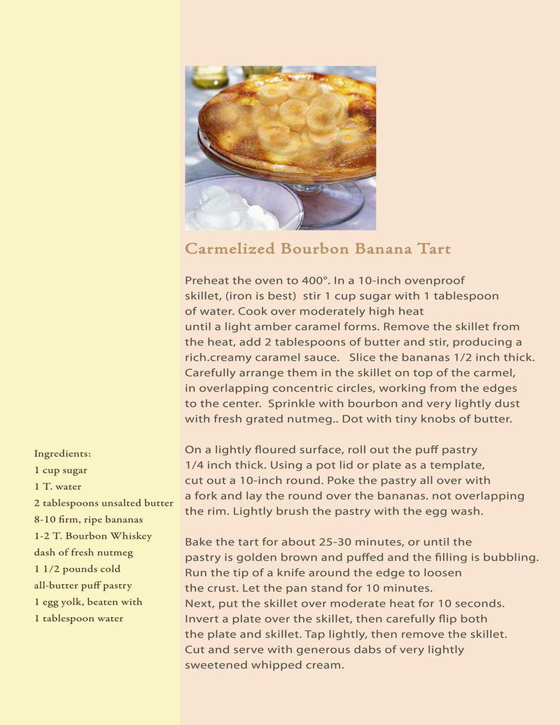 Proposal carmelized Bourbon Banana tart