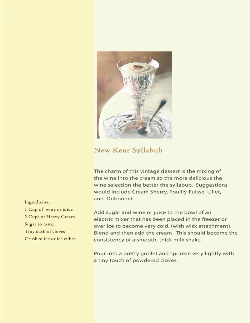 Proposal Book Recipe Syllabub
