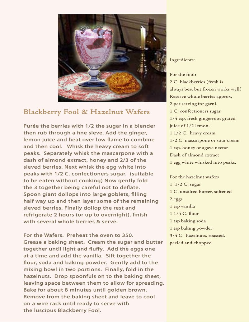 Proposal recipe blackberry fool