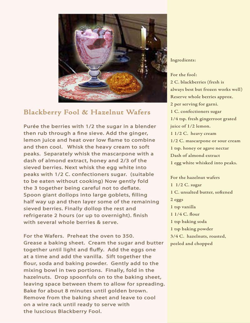 Proposal recipe blackberry fool