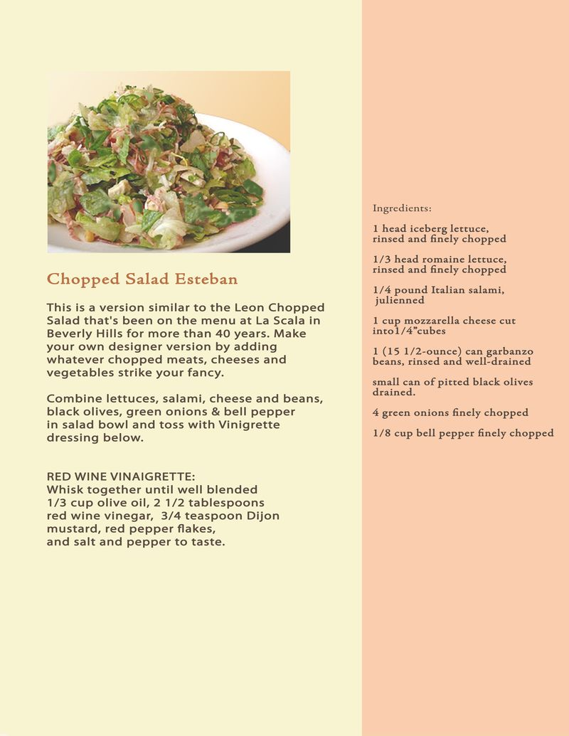 Proposal Book recipe Chopped salad