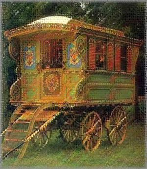 Print illustration 15 gypsy wagon