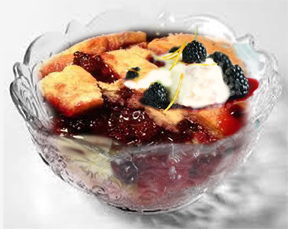 Lou's Blackberry Cobbler book recipe photo