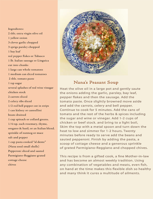 Nana's Peasant Soup book recipe