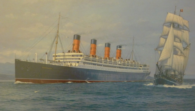 The Aquitania painting