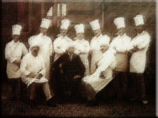 Print illustration 28 Escoffier and chefs