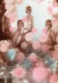 Final illustration girls in the Montecito Inn pool